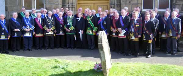 Brethren with PGM and Rev Margaret Rose