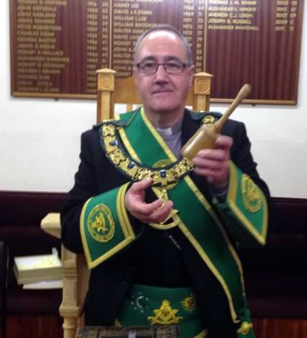 PGM with the Gavel presented to him