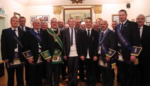Candidates with Lodge members